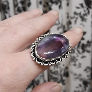 New Fluorite Silver Ring. Size 8.50